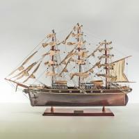 Handgefertigtes Schiffsmodell aus Holz der Cutty Sark (dunkles Holz)