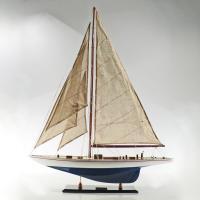 Handgefertigtes Segelschiffmodell der Enterprise Blau