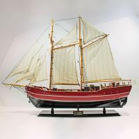 Modelo artesanal de barco de vela de la Lilla Dan