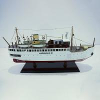 Handgefertigtes Schiffsmodell aus Holz der Korsholm